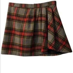 J.CREW PLAID MINI SKIRT WITH FLOUNCE SIZE 0